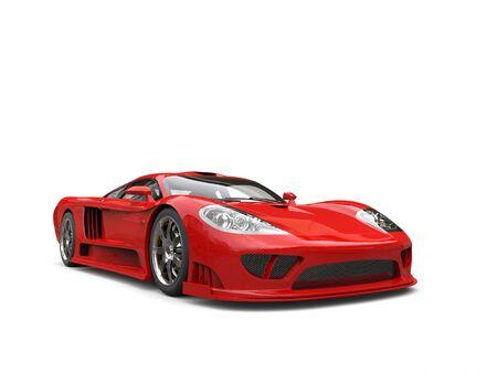 燃えるような赤のモダンなスーパー レース車