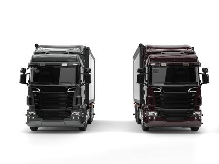 heavy industry: Heavy transport trucks - dark gray and brown