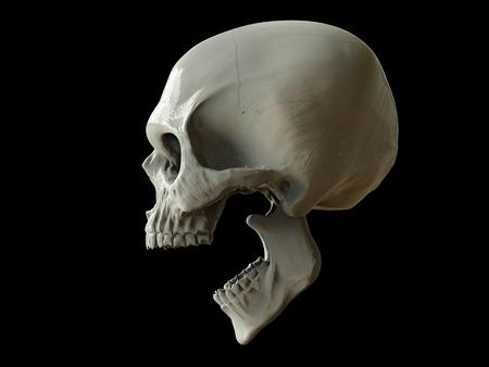 Crâne crachant de la mort Banque d'images - 87545401