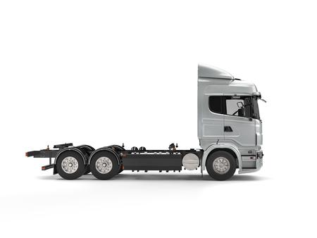 heavy industry: Modern metallic flatbed truck Stock Photo