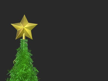 Christmas tree top golden star decoration