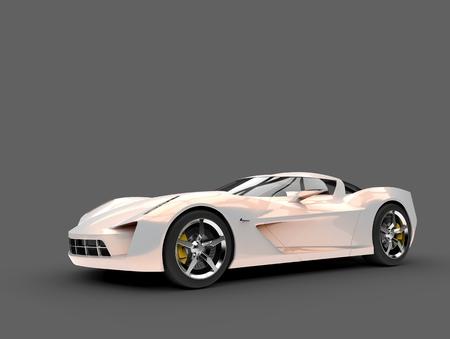 Beautiful opalescent modern sports concept car - beauty shot Stock Photo
