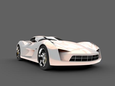 Beautiful opalescent modern sports concept car