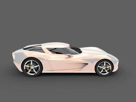 Beautiful opalescent modern sportscar concept