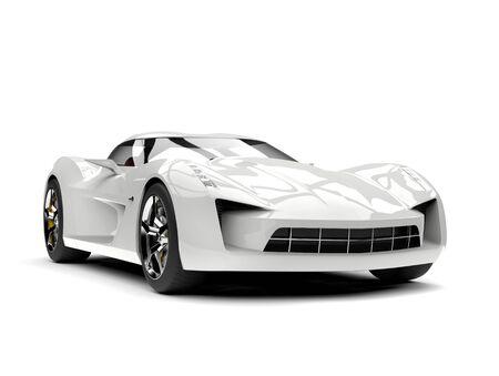 崇高な白いスーパースポーツコンセプトカー