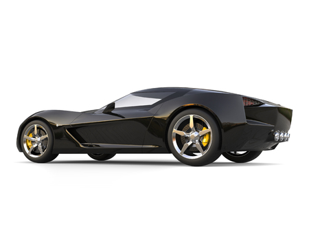 New black modern concept sports car - side view