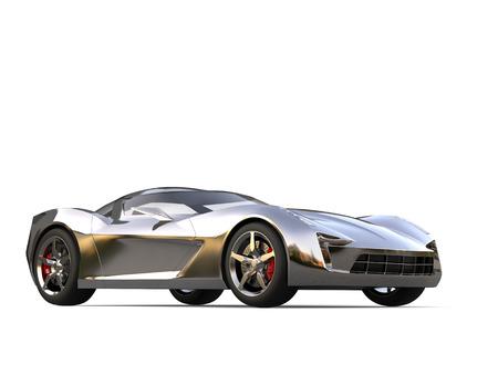Beautiful metallic super sports concept car Stock Photo