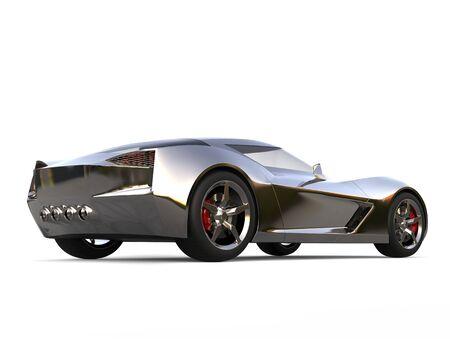 Beautiful metallic super sports concept car - rear view