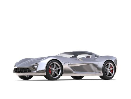 Super silver moderns super sports car Stock Photo