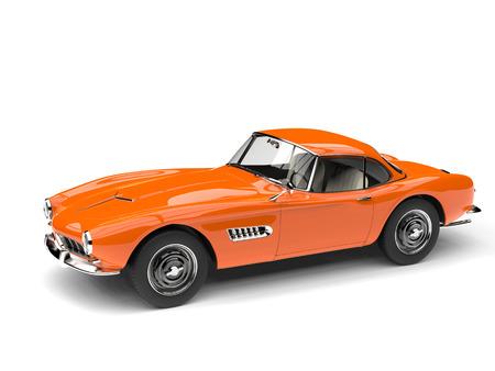 崇高なオレンジ色のビンテージのスポーツカー