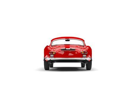 火災赤いヴィンテージスポーツカー - バックビュー 写真素材 - 90389586