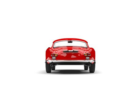 Fire red vintage sports car - back view Stock fotó - 90389586