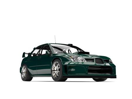 Dark jungle green modern touring race car