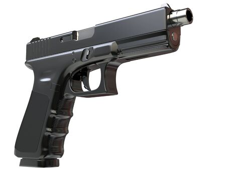 Semi - automatic modern tactical handgun - closeup shot