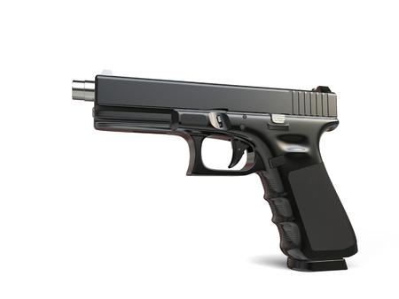 Tactical handgun - black metal coating