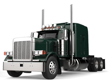 ジャングル緑の大きなセミ - トレーラー トラック - ローアングルのショット 写真素材