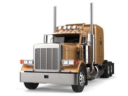 Semi - trailer truck - long haul - gold