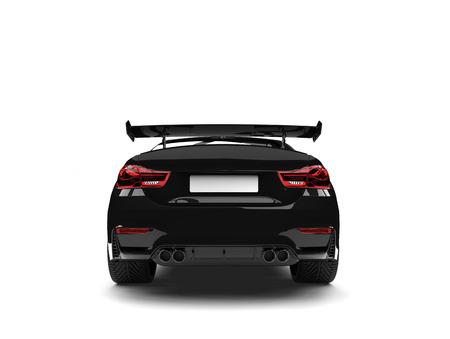 Charcoal black modern sports car - back view
