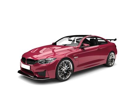 Metallic deep pink modern luxury sports car