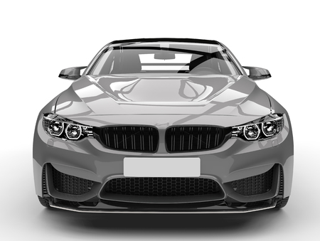 Dark silver modern sports car - closeup shot