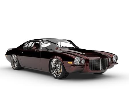 Metallic dark red beautiful vintage American classic car Stock Photo