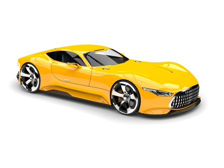 Mikado yellow modern super sports car - beauty shot Stock Photo