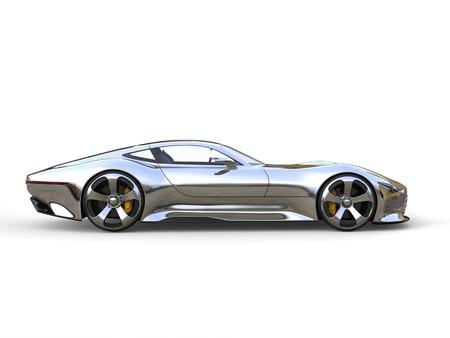 Awesome metallic modern super sports car - side view