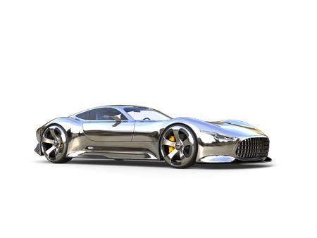 Awesome metallic modern super sports car