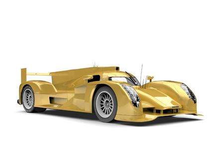 Golden yellow modern super race car