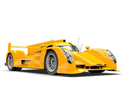 Amber yellow modern super race car