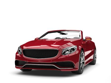 Scarlet dark modern luxury convertible car