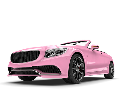 pretty pink modern luxury convertible car low angle shot stock photo 97792361 - Convertible Angle