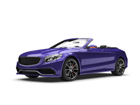 Dark violet modern luxury convertible car Stock Photo