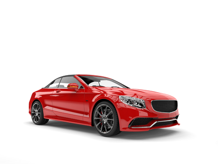 Beautiful red luxury modern convertible car Stock Photo