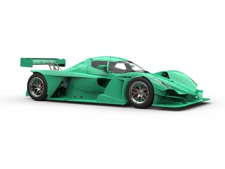 Eucalyptus green modern super sports car