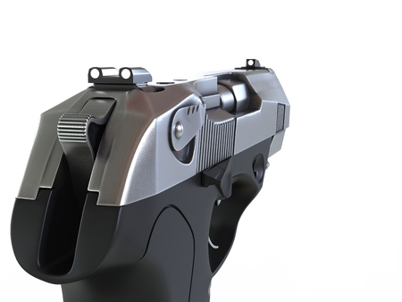 Compact semi automatic pistol - left hand - FPS view