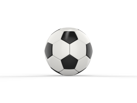 Classic black and white football - side view