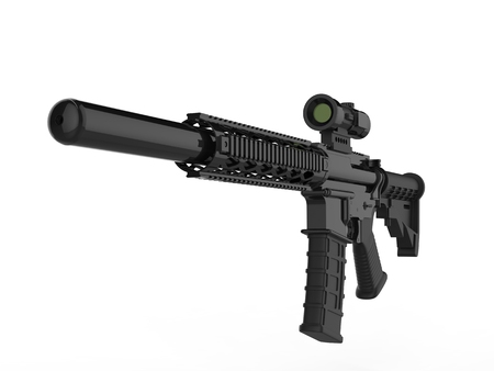 Modern army assault rifle - front view