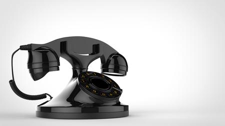 Shiny black vintage telephone