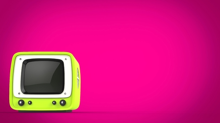 Mad green retro style TV