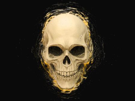Skull - shimmers, waves adn lines