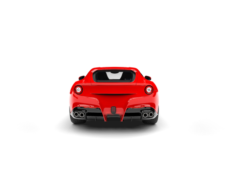Modern red sports concept car - back view