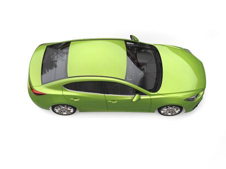 Metallic green modern business car - top down side view Reklamní fotografie