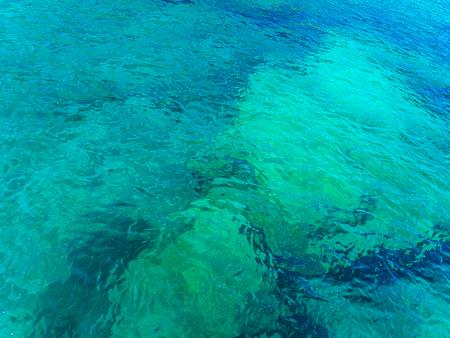 Deep clean blue sea water Stockfoto