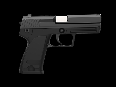 Small and compact modern handgun in tactical black finish