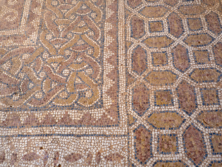 Ancient Greek mosaic floor found at Philippi, Greece