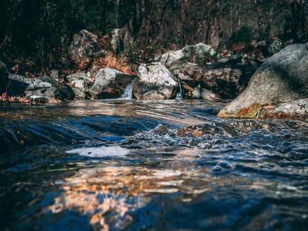 Mountain creek, closeup shot of the cool water