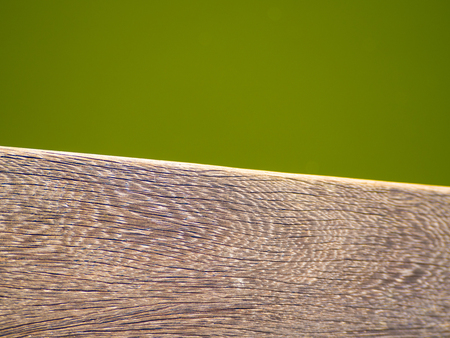 Wood board fine texture green lake water background