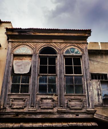 Old wooden abandoned building with broken windows Reklamní fotografie