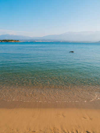 Beautiful sandy beach, clear blue sea and relaxing atmosphere